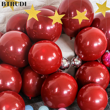 BTRUDI Ruby red balloon 10inch  2.2g latex balloons rubine wedding decoration home accessories party