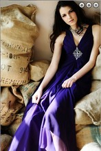 free shipping dinner dress Formal Evening 2014 elegant sexy vestidos brides maid formales long royal blue evening gowns