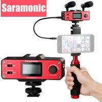 Saramonic smartmixer ручной Запись стереомикрофон RIG для iPhone 7 6 6S 5 5S и Samsung Galaxy смартфоны Xiaomi