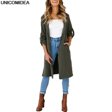 2020 Autumn Winter Coat Women Wide Lapel Belt Pocket Wool Blend Coat Oversize Long Red Trench Coat Outwear Wool Coat Women cheap UNICOMIDEA Polyester spandex Full Solid Sashes Turn-down Collar Open Stitch Wide-waisted REGULAR Woolen Polyester Office Lady