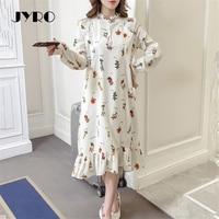 Jyro Brand Mori Women S Dress Spring New Small Fresh Print Long Loose Large Size Mid