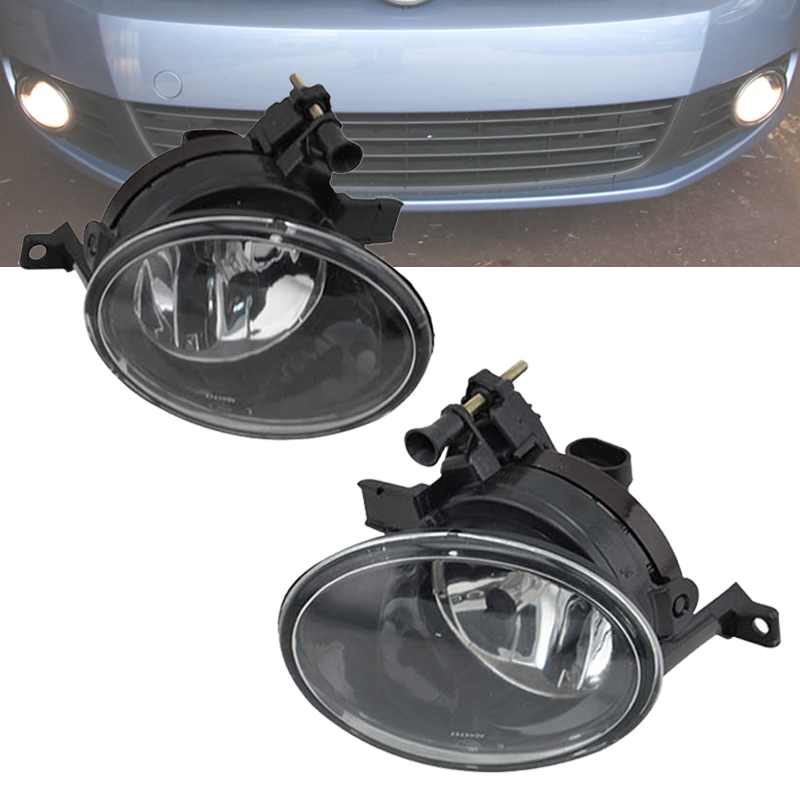 For VW Golf Mk6 GTi 2010 2011 2012 2013 Fog Lamps Clear Lens 9006 Bulbs Left & Right Side Fog Light стоимость