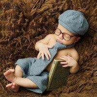 6 M Bebê Menino Calças Chapéu Definir com o Laço Pequenos Senhores Cap Casquette Menino Trajes para Tiro Foto Fotografia Bebê adereços