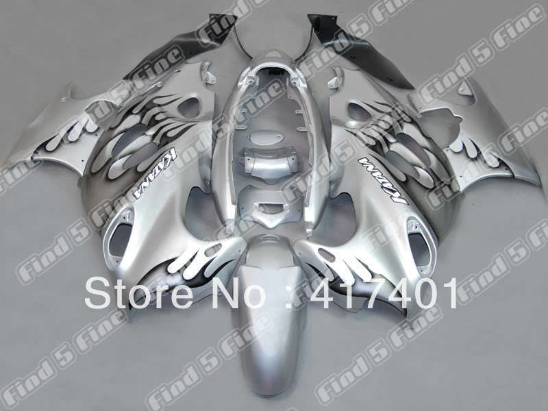 black flame silver for GSX600F 03 04 05 06 Katana 03-06 GSX750F 2003-2006 GSX 600F 750F 2003 2004 2005 2006 ABS fairing kit