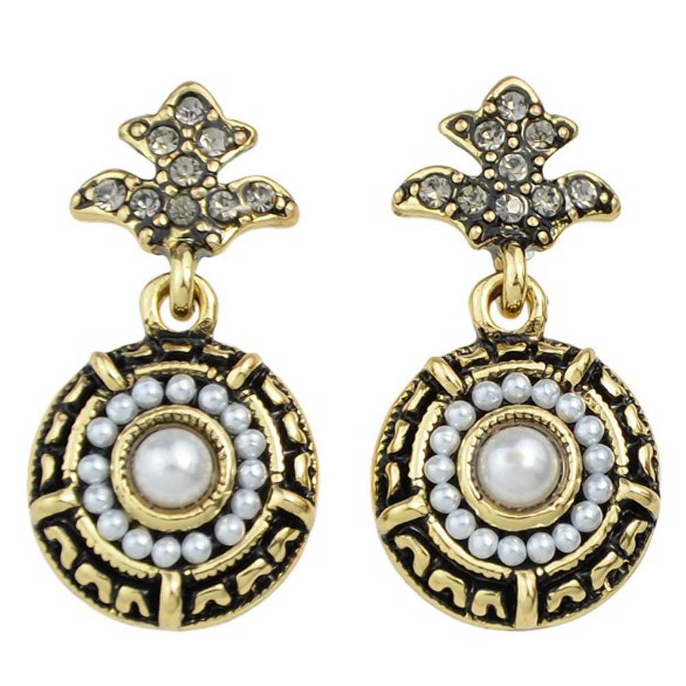 New Vintage Elegant Round Black Palace Full Rhinestones Jewelry Fashion Brand For Women Innovative Bijouxc