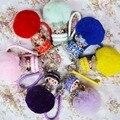 Рождественский Подарок Брелок Девушка Monchhichi Monchichi Sleutelhanger Кристалл Меха Мяч Милый Брелок Пом Пом Женщины Брелок Ювелирных Изделий