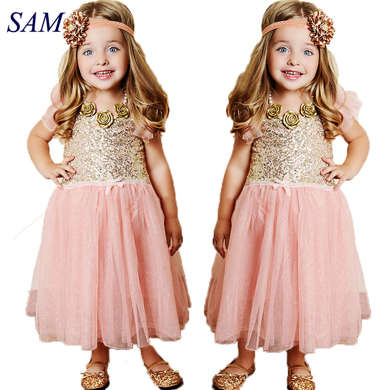 ABAO Childrens Girls Lace Flower Elegant Tulle Dress Princess Gown ZG8