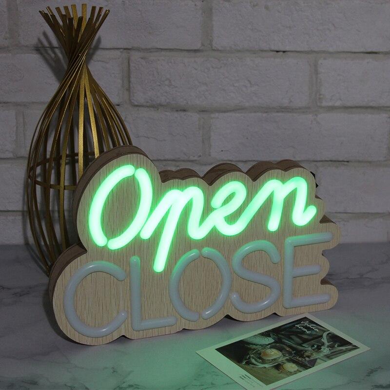 luzes da decoracao de madeira carta fechar abrir a luz da lampada para a porta da