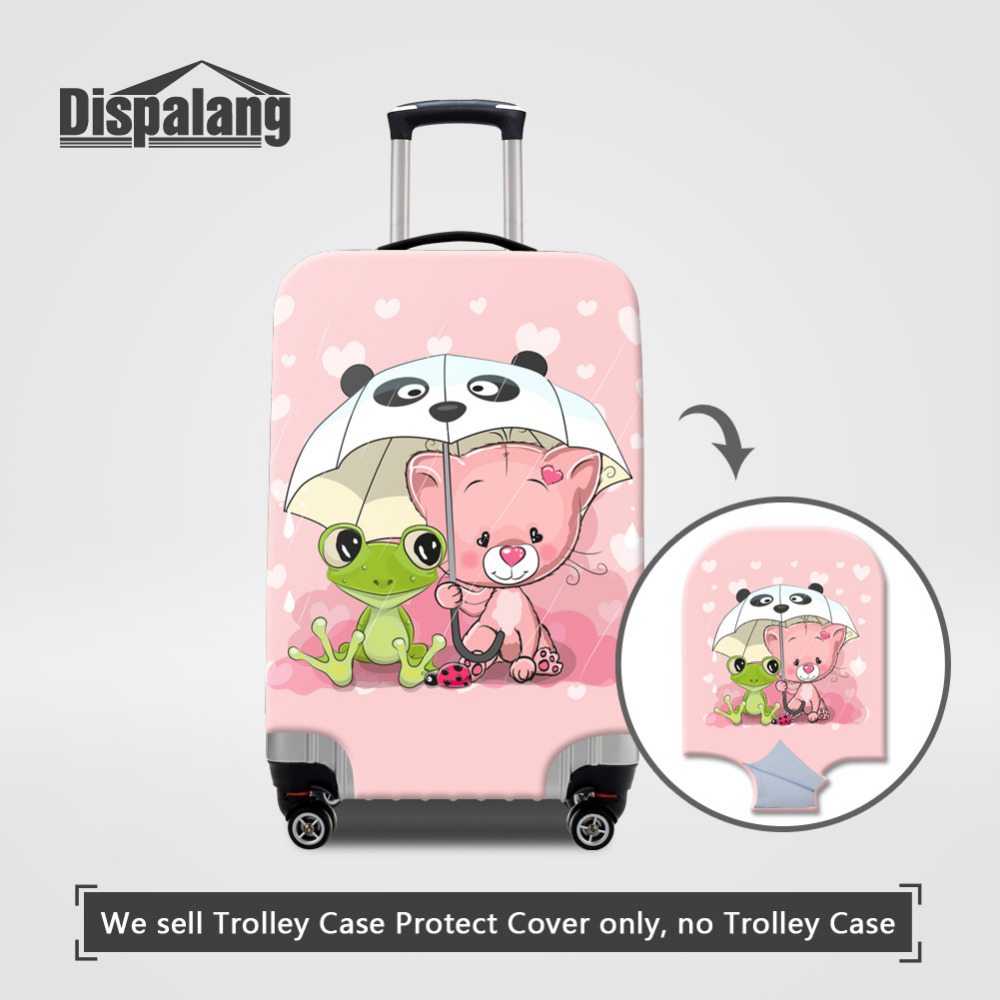 Dispalang Cartoon Animal Suitcase Protective Cover For 18-30 Inch Trolley Case Anti-dust Luggage Cover Flog Bear Dustproof Cover