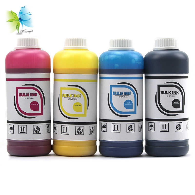 Winnerjet 500 Ml Universal Massal Pewarna Tinta untuk HP Canon Epson Brother Inkjet CISS Di Semua Model Printer Isi Ulang Kit BK C M Y