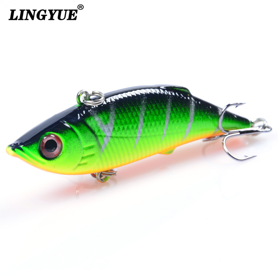 1pcs fishing lure lipless trap 7 5cm 10g crankbait hard for Deep water bass fishing