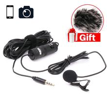 BOYA BY-M1 Lavalier Microphone Omnidirectional Condenser Mic for iPhone Smartphone Canon Nikon DSLR Camera Interview Broadcast boya by mm1 compact camera microphone w phone handle grip video rig smartphone mic for iphone canon nikon dslrcamera smooth q