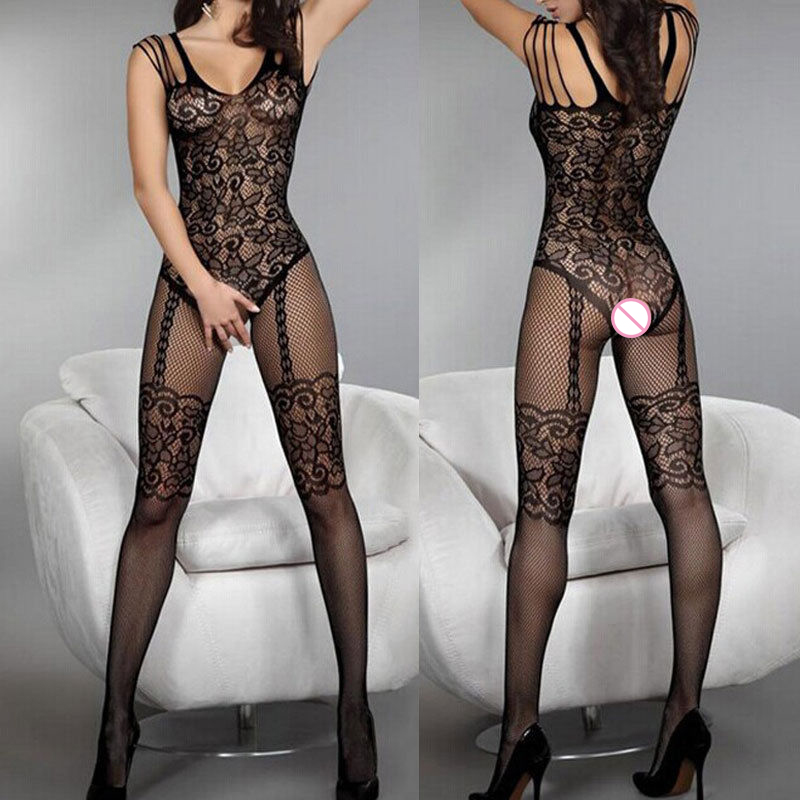 Sexy Lingerie Hot Lace Temptation Erotic Sexy Underwear Perspective Mesh Women Babydoll Lenceria Open Crotch Langerie Costumes