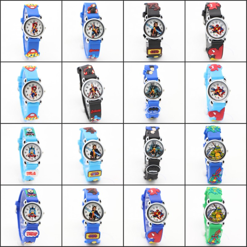 цена на Fashion 3D Cartoon Lovely Kids Children boys watch Student Quartz WristWatch watches Casual Relogio femininos montre femme Clock