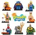 Wholesale 80pcs/lot Spongebob  Figure Doll Building Blocks Sets classic toys Brick Building Plate Educational DIY Toys Children