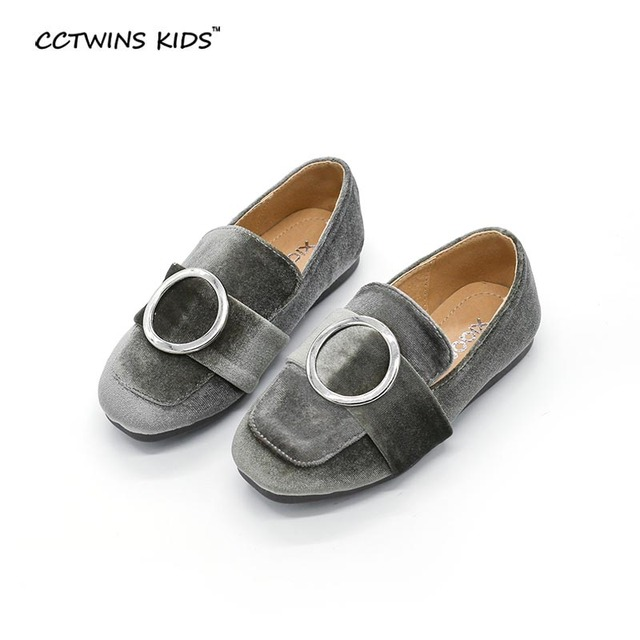 CCTWINS KIDS 2017 spring autumn baby girl black loafer for children fashion party shoe toddler brand flat green slip-on ankle