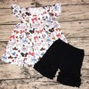 wholesale children Mickey flutter clothing usa 2018  little girls boutique clothing sets children clothing manufacturers china
