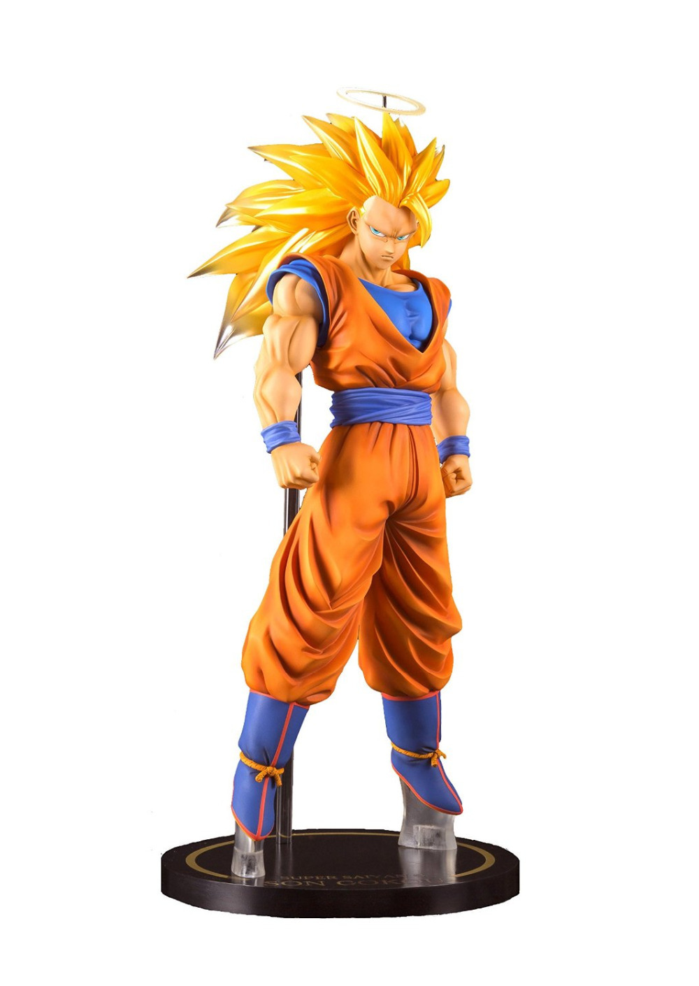 New hot anime figure toy dragon ball z super saiyan 3 goku figurine statues 22cm no box loose in action toy figures from toys hobbies on aliexpress com