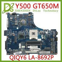 KEFU LA-8692P motherboard For Lenovo Y500 LA-8692P Laptop Motherboard Y500 motherboard HM77 GT650 Test motherboard цена 2017