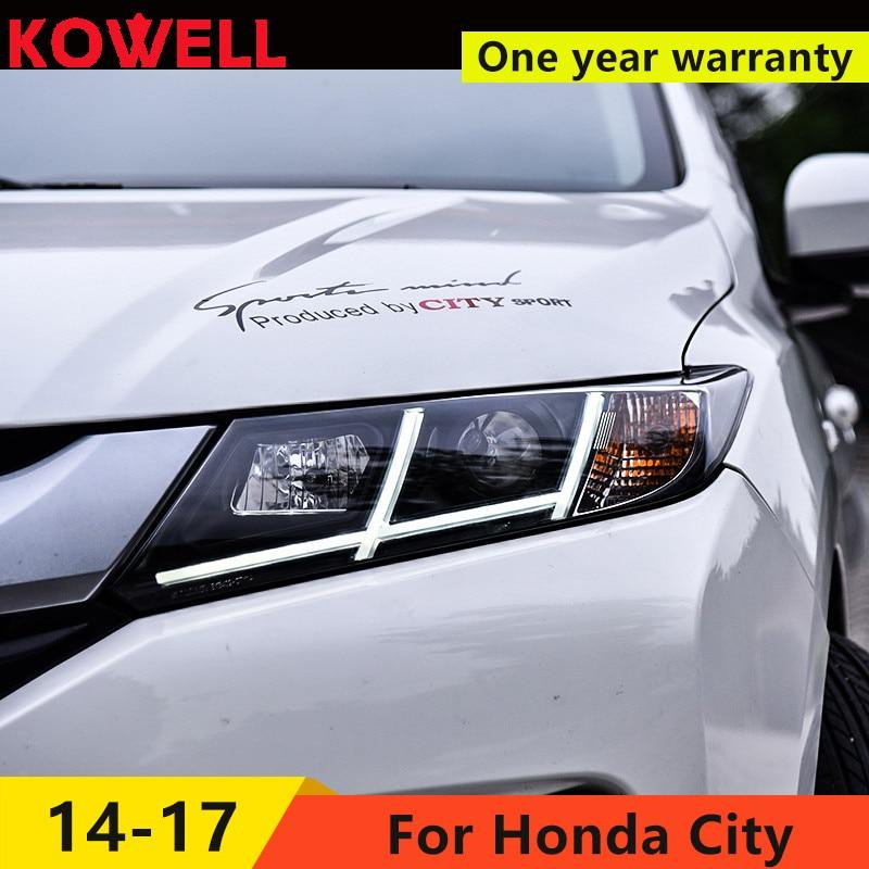 Style de voiture KOWELL pour Honda City 2014-2016 phare LED pour lampe de ville LED feux de jour LED DRL bi-xénon HID