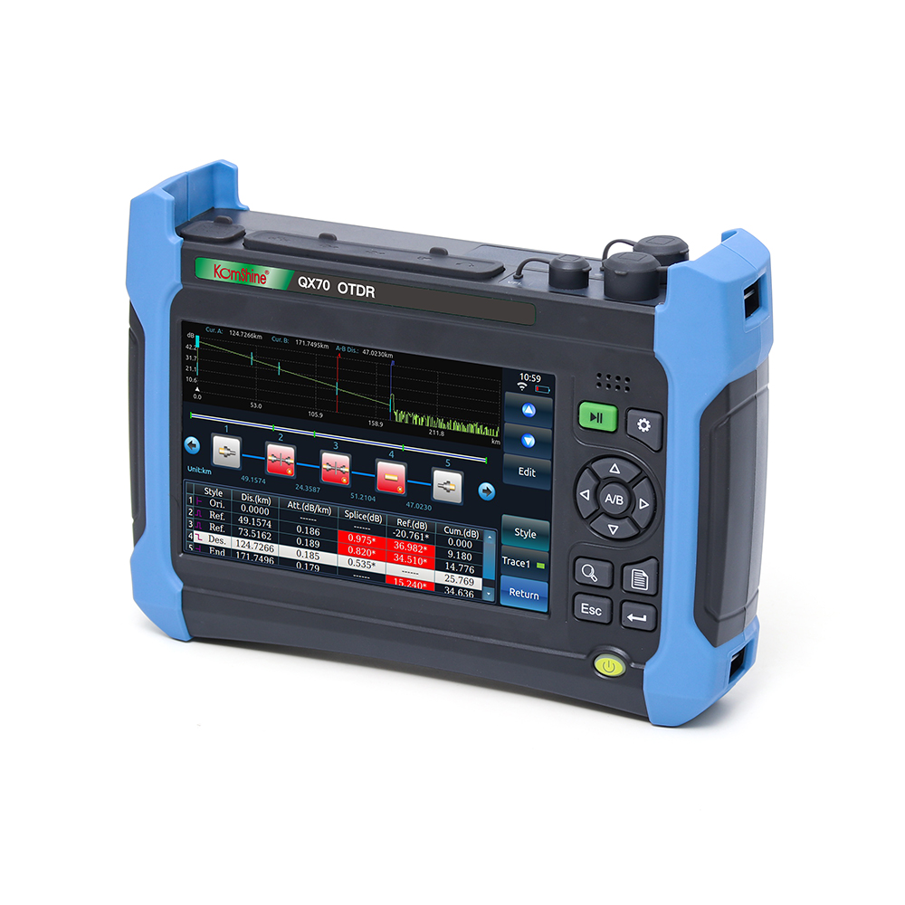 Image 5 - Komshine QX70 S Singlemode OTDR(1310/1550nm,32/30dB)0.5m dead zone with iolm function-in Fiber Optic Equipments from Cellphones & Telecommunications