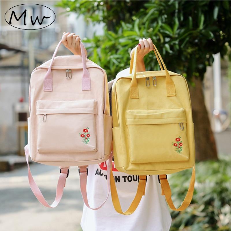 Women Backpack Korean Style Large Capacity Female Canvas/Tote Backpack For Girls Laptop Backpack School Bags For Teenage Girls