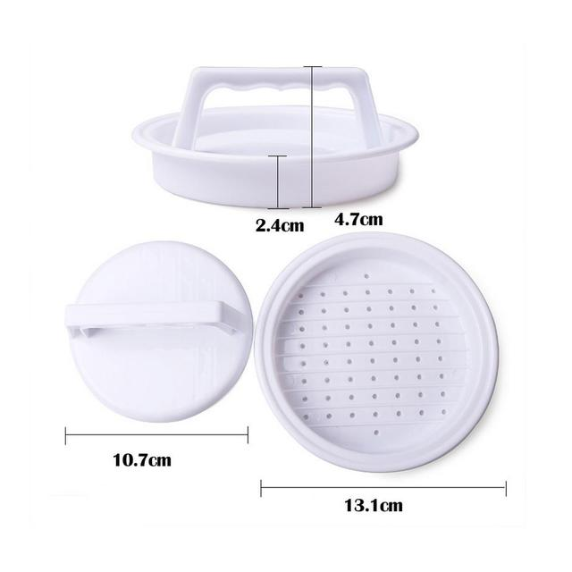 1 pc Hamburger Mold Maker Multi-function Sandwich Meat Kitchen Barbecue Tool DIY Home Cooking Tools White W45 10