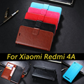 Hight Quality PU Leather Case For Xiaomi Redmi 4A Flip Cover Wallet With Stand And ID Card Holder
