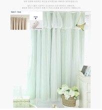 Torino Quasten Laternen Kopf Thermische Vorhang Elfenbein Farbe Tuch Vorhang  + Voile Sheer Black Out Stoff