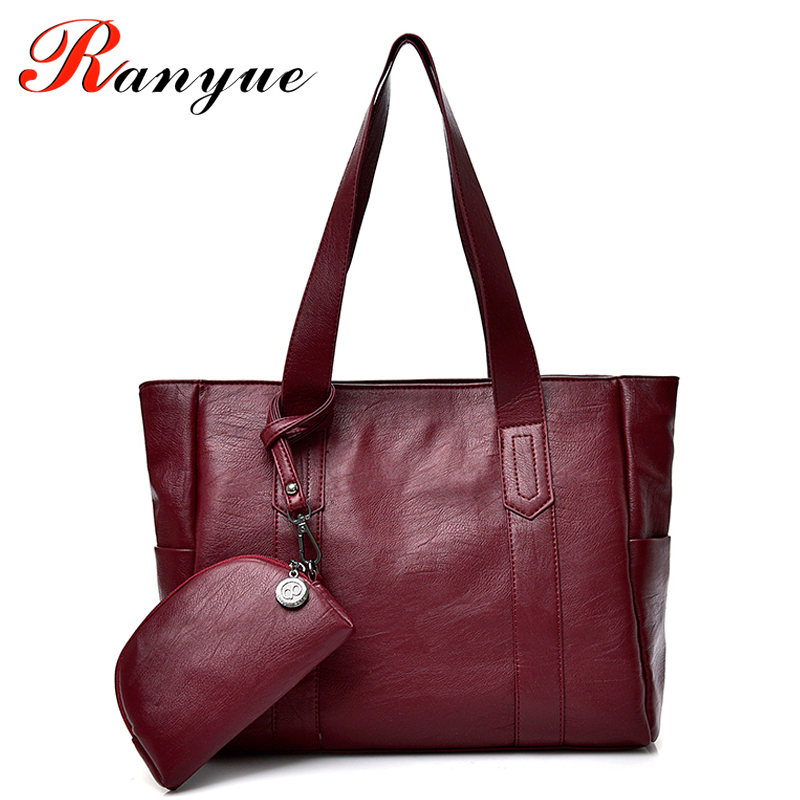 RANYUE High Quality PU Leather Shoulder Bags For Women 2018 Composite Bags Womens Luxury  Handbags Women Bag Designer Sac a Main luxury handbags women bags designer pink shoulder messenger bag high quality pu leather crossbody bags for women 2017 sac mb02