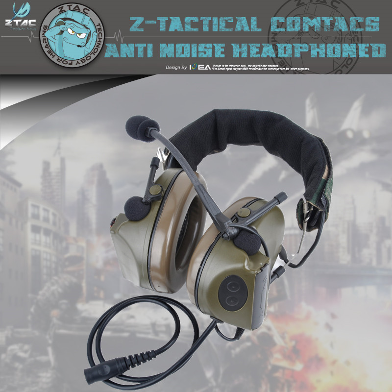 Element Z-tactical 4th Generation Chip Earphone Comtac Ii Peltor Noise Canceling Headset Radio Militar Z041 Headphones