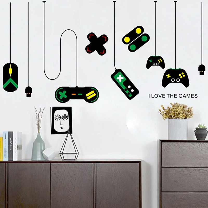 detail feedback questions about creative gamepad wall stickers for