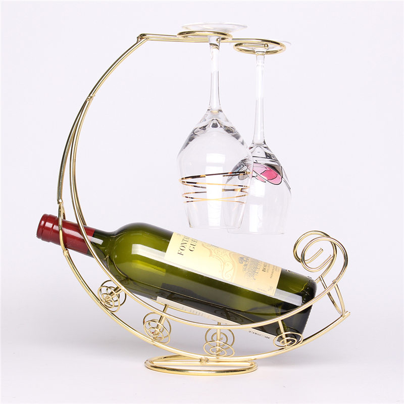 Fashion Metal Wine Rack Hanging Wine Glass Bottle Holder Pirate Ship