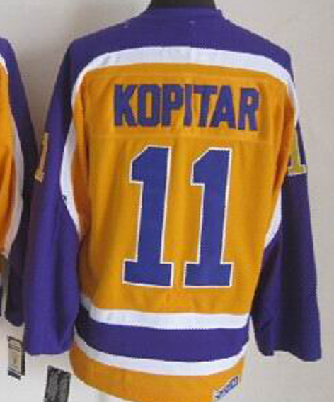 Los Angeles Kings Hockey Jerseys  11 Anze Kopitar Jersey Black White Greey  Purple Gold LA Kings Champions Jersey-in Hockey Jerseys from Sports ... 566ee4f0d