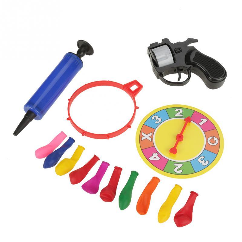 Nueva Llegada Ruleta Rusa Balloon Gun Juegos Juguete Creativo