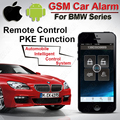 IOS Android  PKE Push Button Start Car GSM Alarm for BMW Keyless Entry System One Start-Stop Button Remote Start Stop Car CARBAR