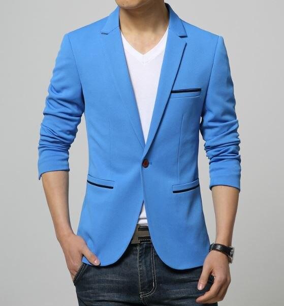 2019 Fashion Party Mens slim fit ბამბა blazer Suit Jacket - კაცის ტანსაცმელი - ფოტო 4