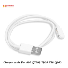 4Pin magnetic Charge-type Charging Cable Port Magnetics USB Power Charger Cables For A20 TD05 Q100 Q750S T88 Kids Smart Watch
