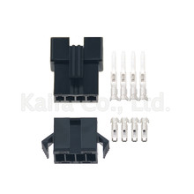 10 Sets JST 2.54mm SM 4 Pin 4 Way Multipole Connector plug With ternimal male and female