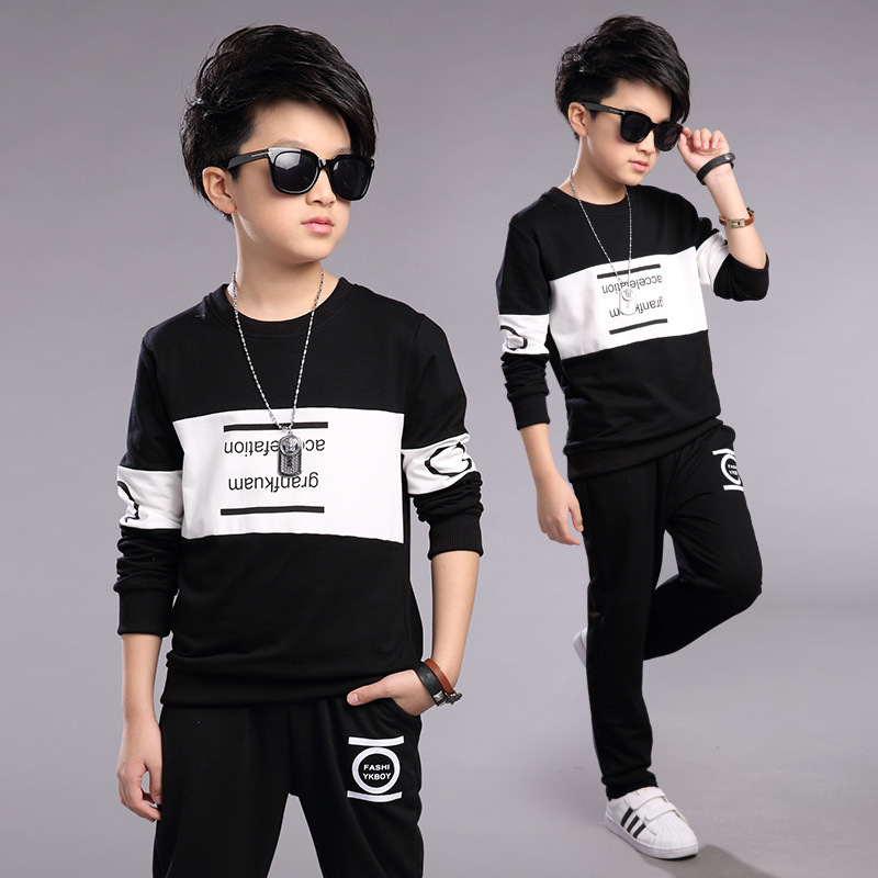 Boy's clothing sets spring Baby Sets fleece cotton boy tracksuits Kids sport suits cartoon coats/sweatshirts+pants