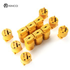 KINCO 12Pcs Male & Female Extension Cord Replacement Electrical End Plugs 15A 125V 3 Prong Outlet Plug Universal Adapter