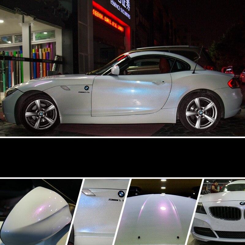 2 pièces 50*150 cm blanc Film de carrosserie changement de couleur PVC housse de voiture en vinyle autocollants pour moto vélo ordinateur portable