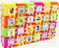 68 unids Montessori Early Educativos Juguetes para Niños de Madera Criatura Bloques Cuadrados de Bloques de Aprendizaje de Inteligencia Para Niños Brinquedos W128