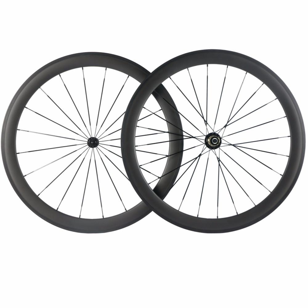 Roues tubulaires de vélo 700C carbone, vente d'usine, objet de 38 mm, 50 mm, 60 mm, 88mm pneu et freinage de basalte