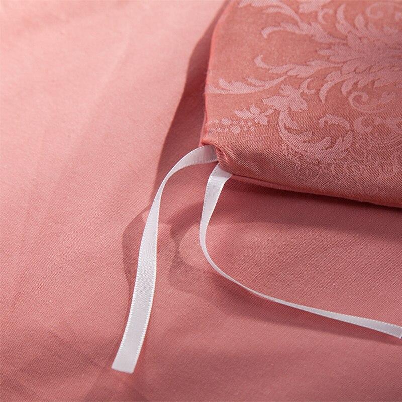 2018 Floral Style Mauve Bedding Set 4Pcs Queen King Size Silk Cotton Blend Bedlinens Duvet Cover Set Flat Sheet Pillow Cases in Bedding Sets from Home Garden