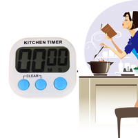Household Kitchen Large LCD Digital Kitchen Cooking Timer Count Down Up Clock Loud Alarm Magnetic