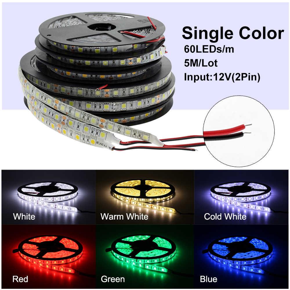 Светодиодная лента 5050 DC12V 60 светодиодный s/m гибкий светодиодный свет RGB RGBW 5050 Светодиодная лента 300 светодиодный s 5 м/лот