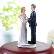 Bride and Groom Funny Figurine Wedding Cake Topper Personalised Event Party Supplies Marriage pregnant wife