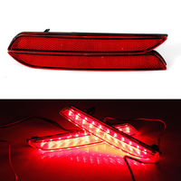 2X Car Styling LED Red Rear Bumper Reflectors Light Brake Parking Warning Night Running Tail Lights