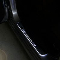 cool!!! custom LED Acrylic INNER DOOR SILL SCUFF KICK STEP COVER TRIM Car Accessories forJaguar XJ (XJL) from2010 2014